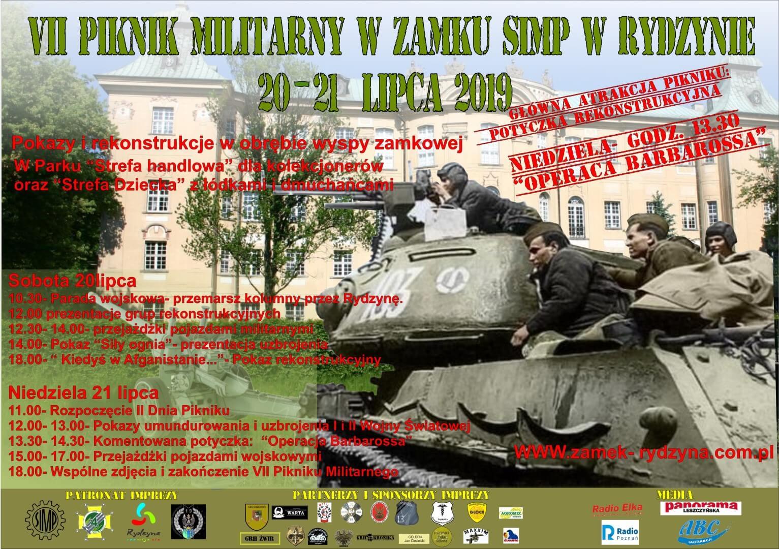 VII Piknik Militarny w Zamku w Rydzynie
